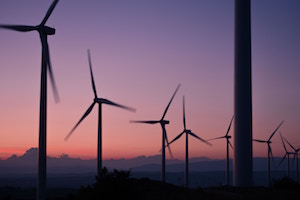A picture to encourage you to change your investment to be fossil-free - A picture of a wind farm