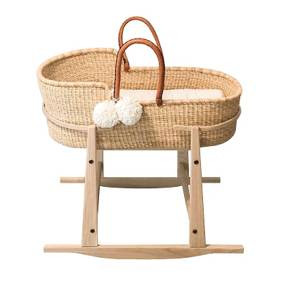 wooden baby bassinet by Baby Eco Trends