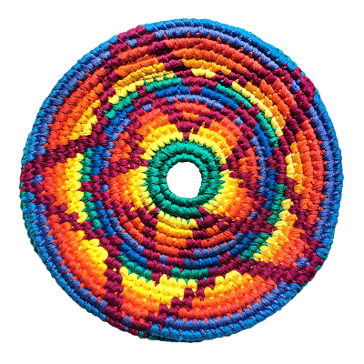 knitted frisbee disk