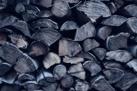 wood looking coal