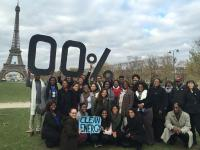 Students from HBCUs visiting Paris for COP20 in 2015.