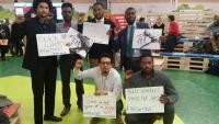 Black Lives Matter activists at COP20