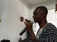 Cocoa farmer speaking