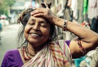 kolkata indian woman smiling