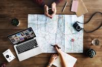 using map to plan travel by RawPixel