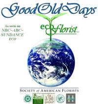 The eco- alternative florist.  Everyday green, Event green, Wedding green.  Flowers at peace with the planet as seen on ABC NBC