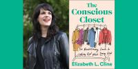 photo of Elizabeth Cline and her book cover