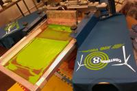 Contempl8 T-shirts screen printer