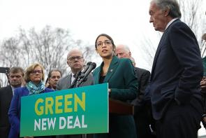 Green New Deal press conference