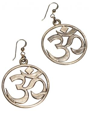 Recycled OM Earrings