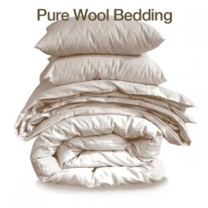 pure wool bedding