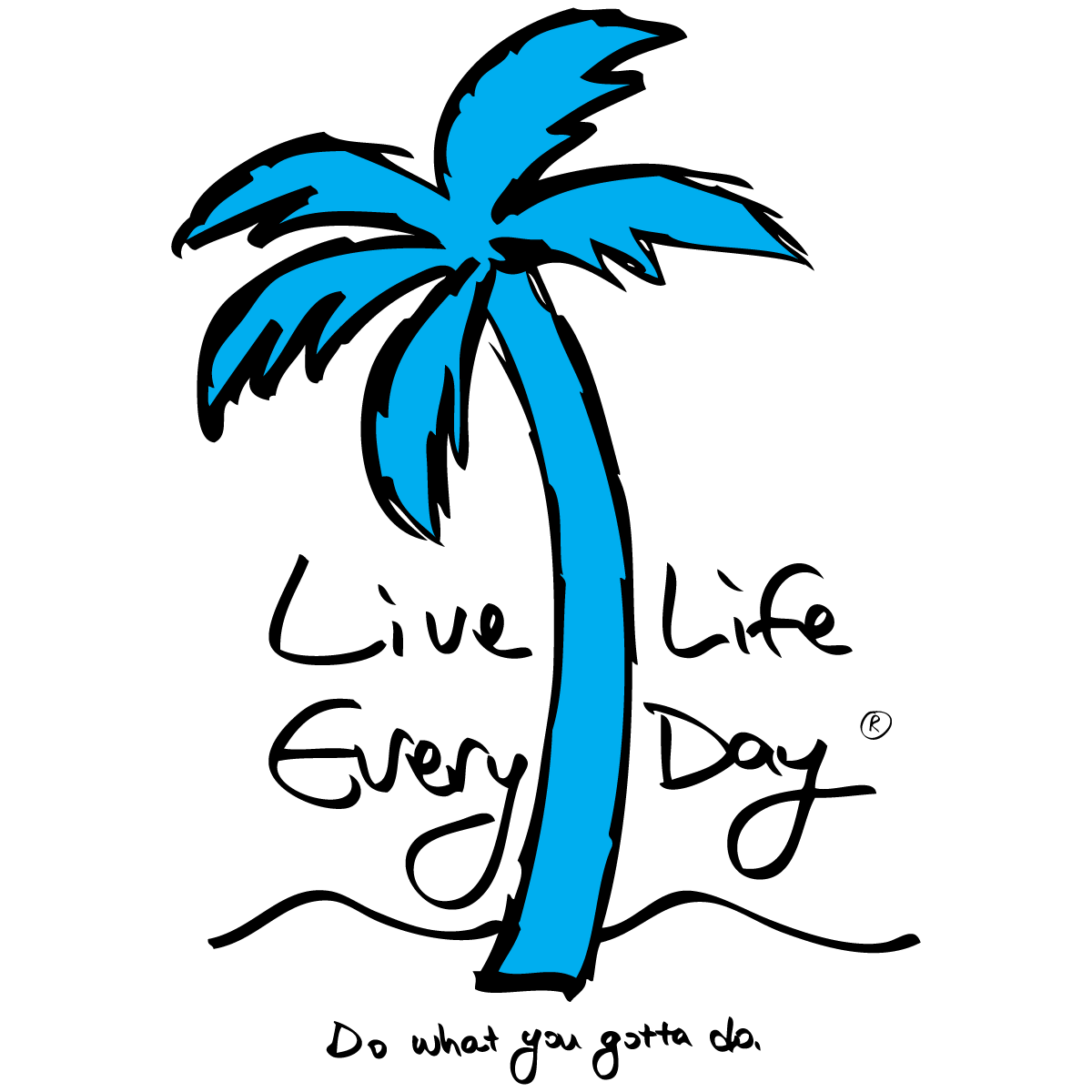 Live Life Every Day Palm Tree Logo