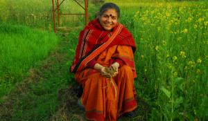 Vandana Shiva, photo from Navdanya