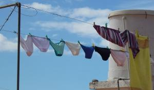 underwear on a clothes line