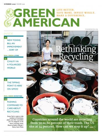 Rethinking Recycling magazine cover