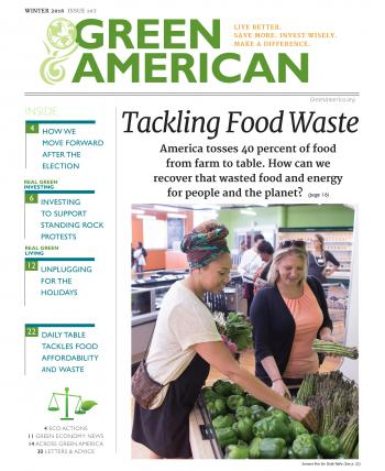 Green American cover with women shopping