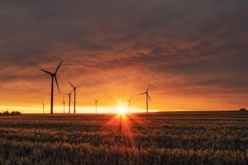 Photo of wind turbines to reflect Verizon's recent purchase of wind energy